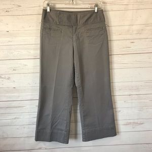 Gap Khakis Crop Wide Leg Slacks Stretch 30x24